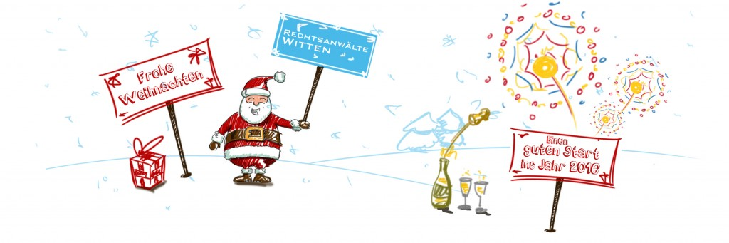 Weihnachtsgruß der Kanzlei Witte